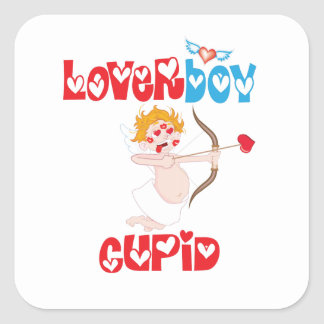 Loverboy Cupid Square Sticker