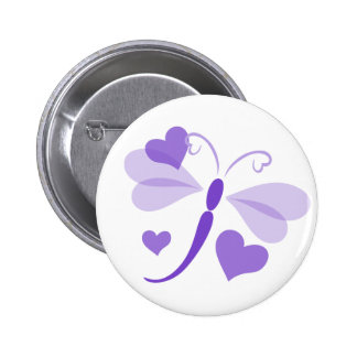 Loverly Dragon Fly 2 Inch Round Button