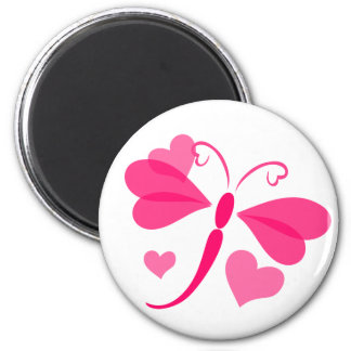 Loverly Dragon Fly 2 Inch Round Magnet