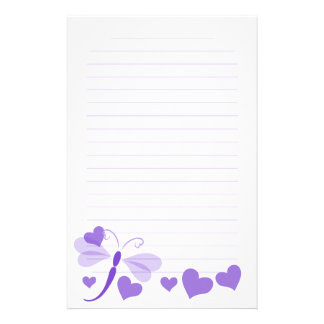 Loverly Dragon Fly Personalized Stationery