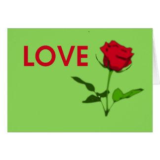 loverose greeting card