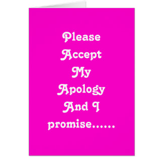Lovers apology card