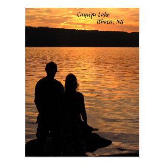 Lovers at Cayuga Lake Postcard