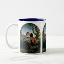 Lovers at Dusk Mug - Fine art love and romance image with a young couple in love. Artist: Sir Joseph Noel Paton, 1857.