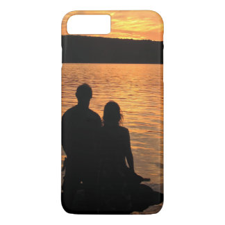 Lovers at Sunset Lake iPhone 7 Plus Case