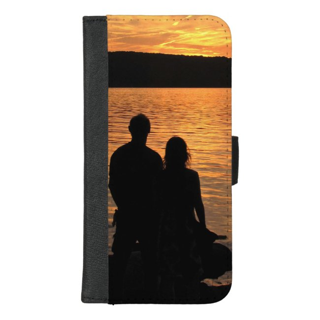 Lovers at Sunset Lake iPhone 8/7 Plus Wallet Case