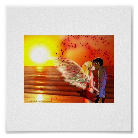 Lovers at Sunset Poster