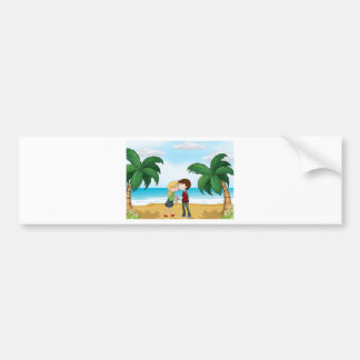 Lovers at the beach bumper sticker