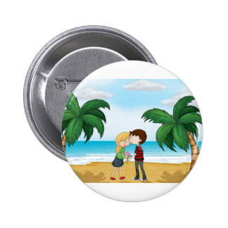 Lovers at the beach button