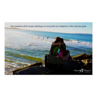Lovers at the Beach Poster Print