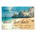 Lovers Beach, Cabo, Mexico Save the Date 3.5x5 Paper Invitation Card