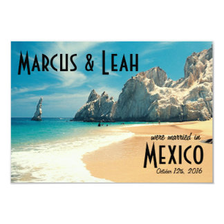 Lovers Beach, Cabo, Mexico Wedding Announce/Invite Card