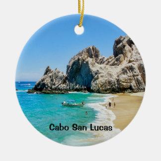 Lovers Beach, Cabo San Lucas Ceramic Ornament