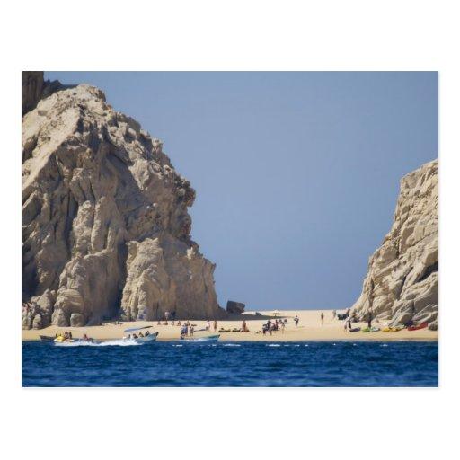 Lovers' beach postcard