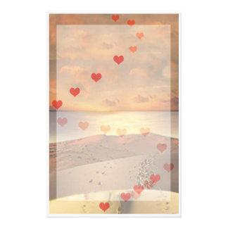 Lover's Beach  Walk writing paper