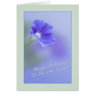 Lover's Birthday Card with Petunia