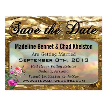 Lovers Bond Save the Date Postcards