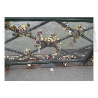 Lovers Bridge - Paris Love Locks, France Card
