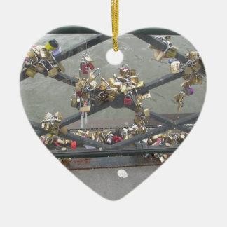 Lovers Bridge - Paris Love Locks, France Ceramic Ornament