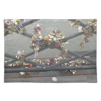 Lovers Bridge - Paris Love Locks, France Cloth Placemat
