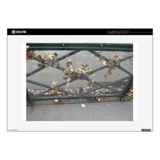 Lovers Bridge - Paris Love Locks, France Laptop Decal
