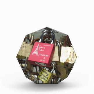 Lovers Bridge - Paris Love Locks, France - Zoom in Acrylic Award