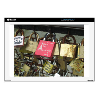 Lovers Bridge - Paris Love Locks, France - Zoom in Skins For Laptops
