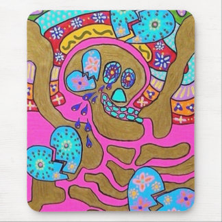 Lovers Broken Hearts & Tears Day Of The Dead Mouse Pad