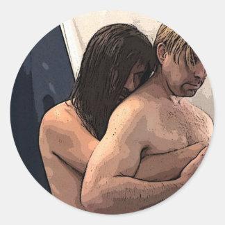Lovers Classic Round Sticker