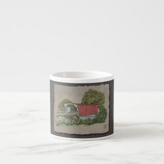 Lovers Covered Bridge Espresso Cup