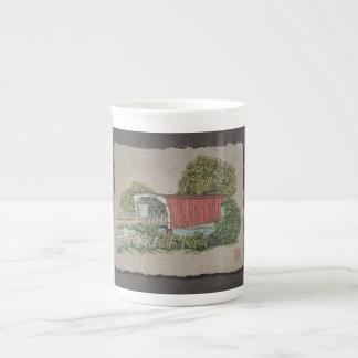 Lovers Covered Bridge Tea Cup