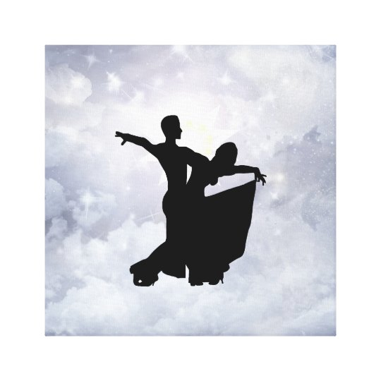 Lovers dancing in romance canvas print