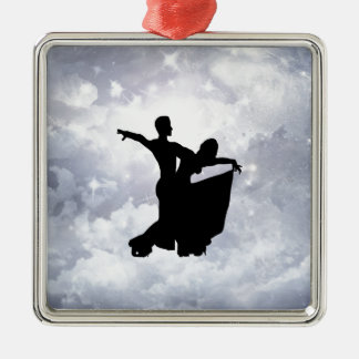 Lovers dancing in romance christmas tree ornaments