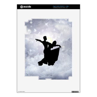 Lovers dancing in romance decal for the iPad 2