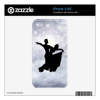 Lovers dancing in romance decal for the iPhone 4