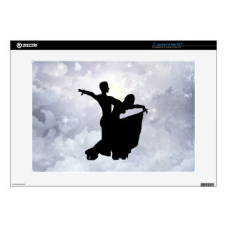 "Lovers dancing in romance decals for 15"" laptops"