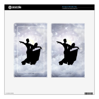 Lovers dancing in romance decals for kindle fire