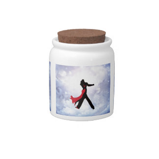 Lovers dancing in the love star candy jars