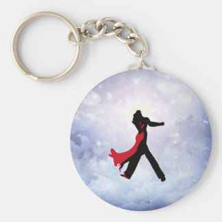 Lovers dancing in the love star key chains