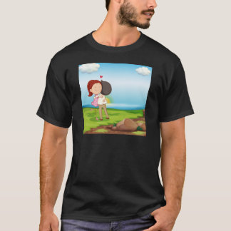 Lovers dating at the riverbank T-Shirt