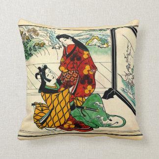 Lovers Embracing 1680 Throw Pillow