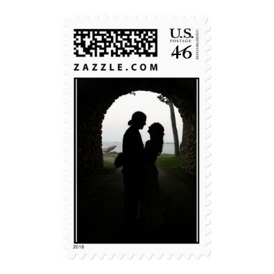 Lovers Finding Love Postage Stamps