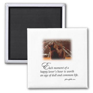 Lovers' Happy Moment 2 Inch Square Magnet