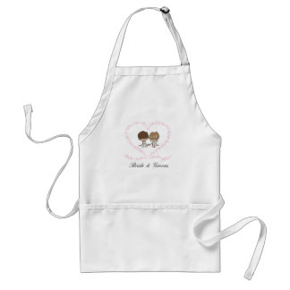 Lovers Heart-Bride and Groom-1 Adult Apron