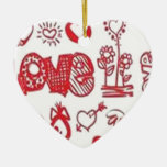 Lovers hearts design christmas ornaments