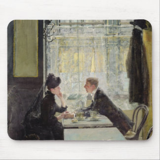 Lovers in a Cafe Mousepads