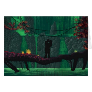 Lovers in a Lost Paradise Greeting Card