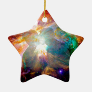 Lovers in Nebula. Ceramic Ornament