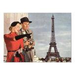 "Lovers in Paris Invitation 5.5"" X 7.5"" Invitation Card"