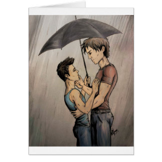 Lovers in the Rain Card